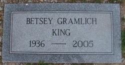 Betsey <i>Gramlich</i> King