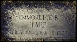 Emmoretta <i>Butler</i> Tapp