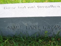 Alice G. <i>Lane</i> Gregg