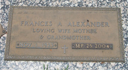 Frances A Alexander