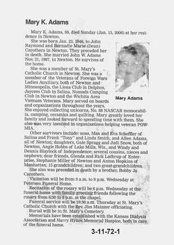 Mary K. <i>Carothers</i> Adams