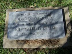 Martha Elizabeth <i>Dunlap</i> Cole