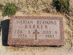 Marian <i>Rudkins</i> Barker