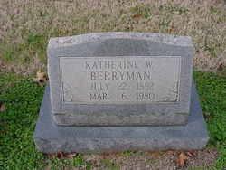 Katherine W. <i>Wayland</i> Berryman