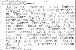 Addie Bell <i>Dedisse</i> Fleming