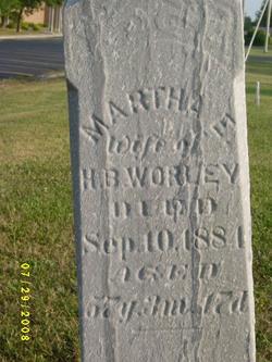 Martha E. <i>Hay</i> Worley