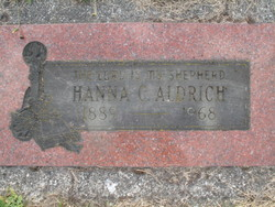 Hanna Christine <i>Leslie</i> Aldrich