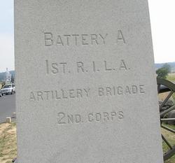 1st Rhode Island Light Artillery Batt. A. Monument