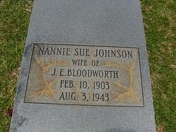 Nannie Sue <i>Johnson</i> Bloodworth