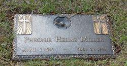 Pheonie <i>Helms</i> Miller