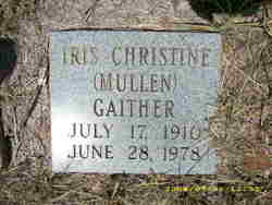 Iris Christine <i>Mullen</i> Gaither