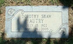 Dorothy Shaw <i>Bynum</i> Autry