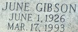 June <i>Brummett</i> Gibson