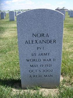 Pvt Nora Alexander