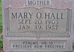 Mary Olive Ollie <i>Addleman</i> Hall