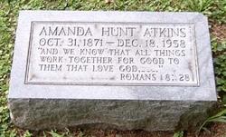 Amanda Mary <i>Hunt</i> Atkins