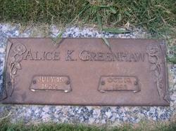 Alice <i>Kimbrel</i> Greenhaw