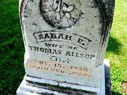 Sarah E. <i>Getz</i> Allsop