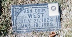 Ann <i>Cook</i> West