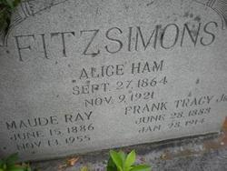 Alice R. <i>Ham</i> Fitzsimons