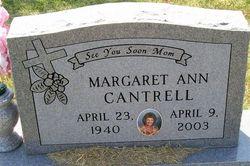 Margaret Ann <i>Fisher</i> Cantrell