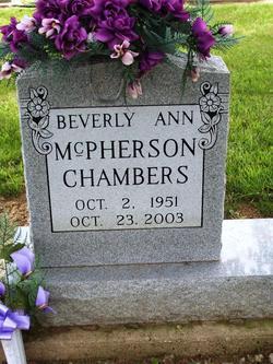 Beverly Ann <i>McPherson</i> Chambers
