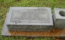 Mary <i>Crowder</i> Coleman