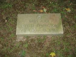 Mrs Mary Alice Estelle <i>Cobb</i> Symington
