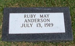 Ruby May <i>Schubel</i> Anderson