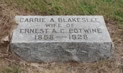Carrie A <i>Blakeslee</i> Potwine