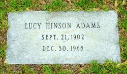 Lucy <i>Hinson</i> Adams