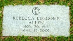 Rebecca <i>Lipscomb</i> Allen