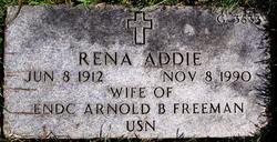 Rena Addie <i>Breshears</i> Freeman