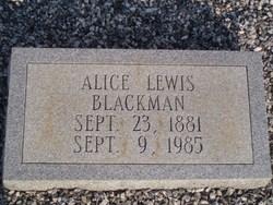 Alice <i>Lewis</i> Blackman