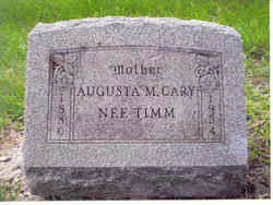 Augusta M Gustie <i>Timm</i> Cary