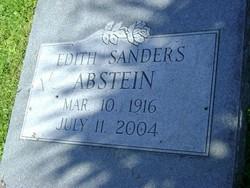 Edith <i>Sanders</i> Abstein