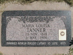 Maria Louisa <i>Tanner</i> Lyman