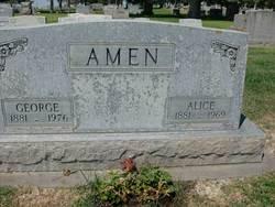 Alice Elizabeth <i>Frick</i> Amen