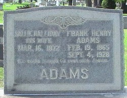 Sallie <i>Halliday</i> Adams