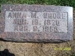 Anna M <i>Renick</i> Boone