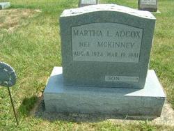 Martha L. <i>McKinney</i> Adcox