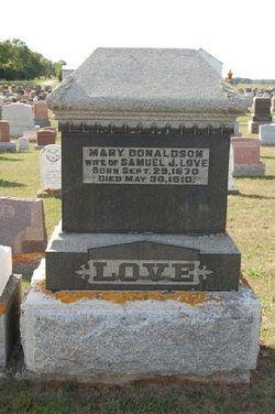 Mary <i>Donaldson</i> Love