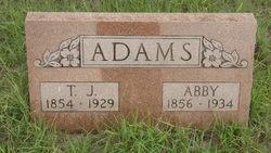 Abigail Ann Abby <i>Benjamin</i> Adams