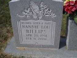 Nannie Lou Billips