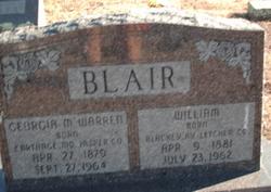 Georgia M <i>Warren</i> Blair