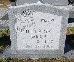 Lillie M. <i>Cox</i> Barber