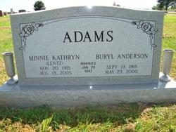 Minnie Kathryn <i>Lentz</i> Adams