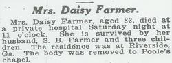 Daisy Belle <i>Chambers</i> Farmer