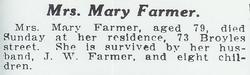 Mary Rowen <i>May</i> Farmer