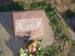 Rosa Elizabeth <i>Herrington</i> Flowers